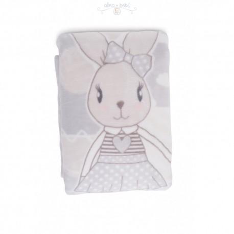 Manta de Algodón 100% Kikka Modelo Rabbit